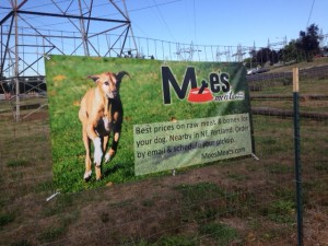 Banner at Ross Dog Park in Vancouver, Washington