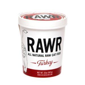 RAWR Cat Food, Turkey, Size Options