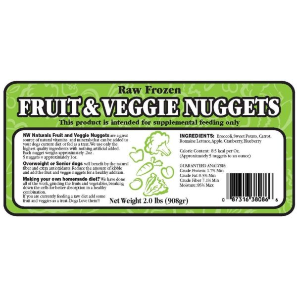 Northwest Naturals, Fruit and Vegetable Nuggets, 2 Pounds