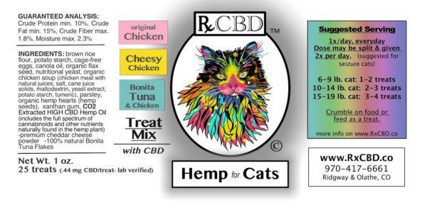 RxCBD, CBD Cat Treats for Cats Sampler Pack, 3-pack