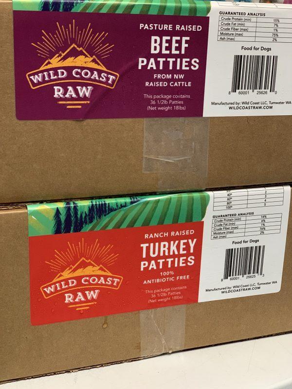 Wild Coast Raw Beef Patties in Portland